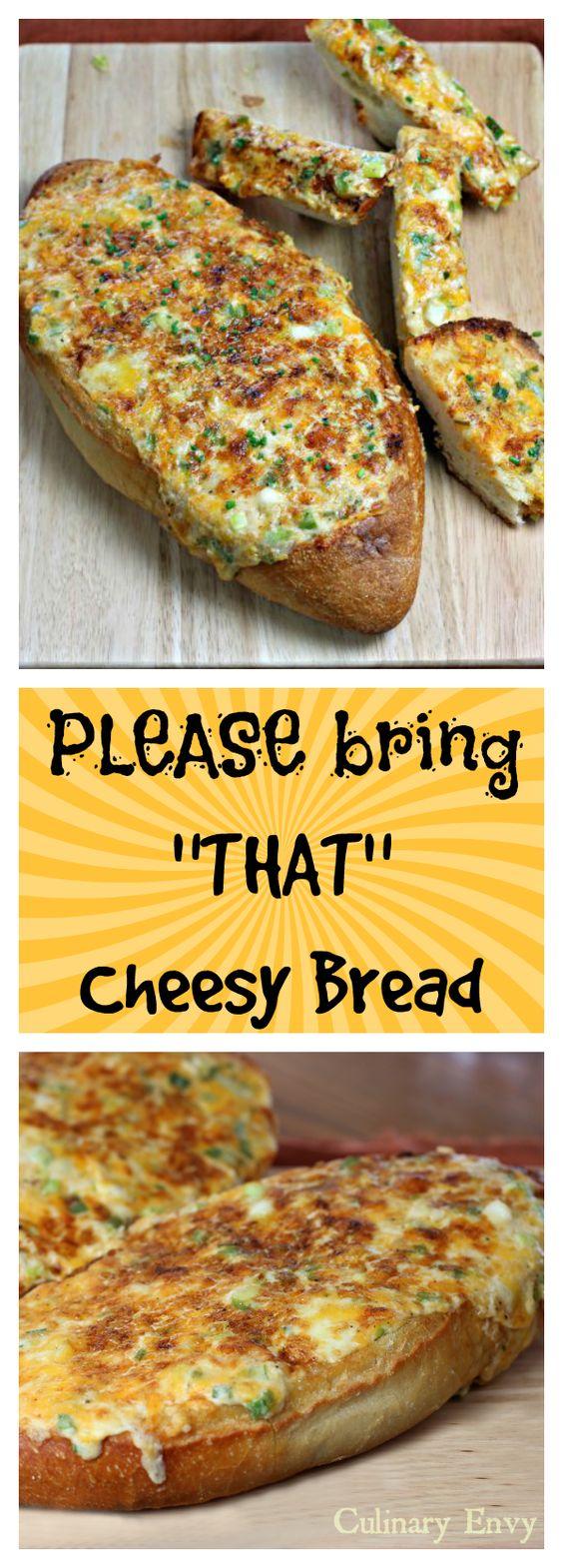 PLEASE BRING THAT CHEESY BREAD