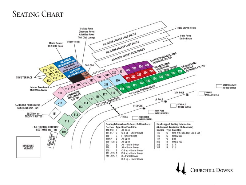 [PDF]Seating Chart Kentucky Derby - churchill downs seating chart