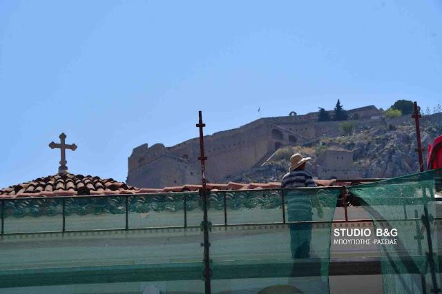 Ξεκίνησαν και πάλι τα έργα αποκατάστασης στον Άγιο Γεώργιο Ναυπλίου
