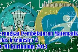 Perangkat Pembelajaran Matematika Kelas 6 semester 2 SD/MI Kurikulum 2013