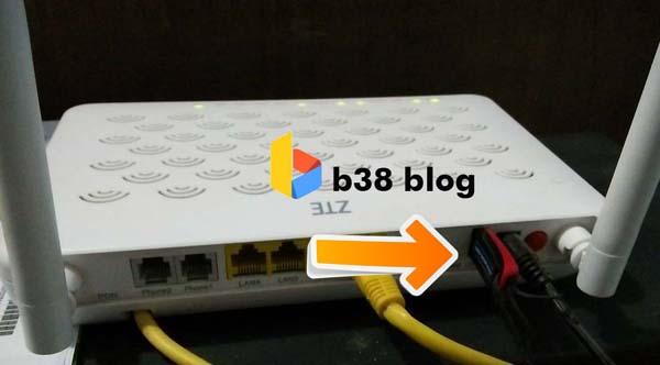 Port modem zte f609