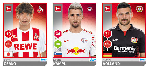 TOPPS Bundesliga 2017//2018 Sticker 7 FC Augsburg Logo