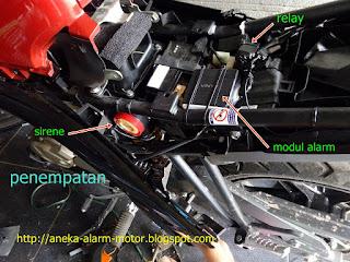 Cara pasang alarm motor Yamaha All New Vixion 2017