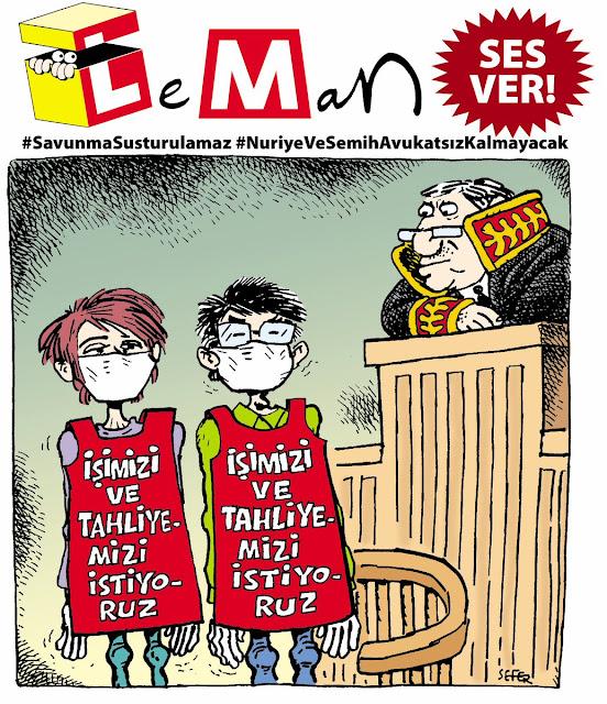nuriye gülmen semih özakça karikatür