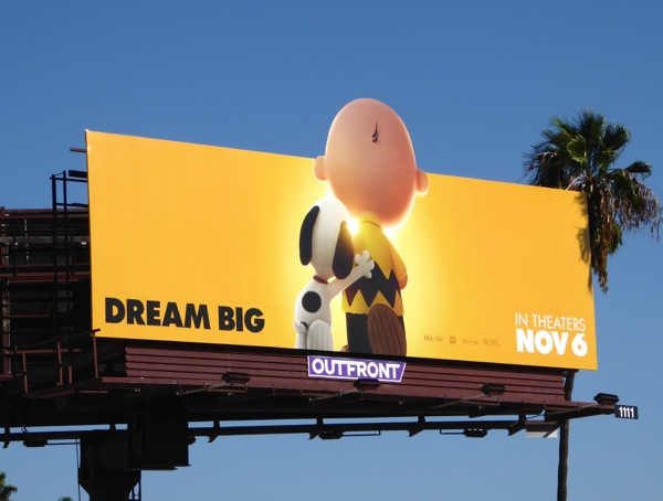 Peanuts Movie special extension billboard