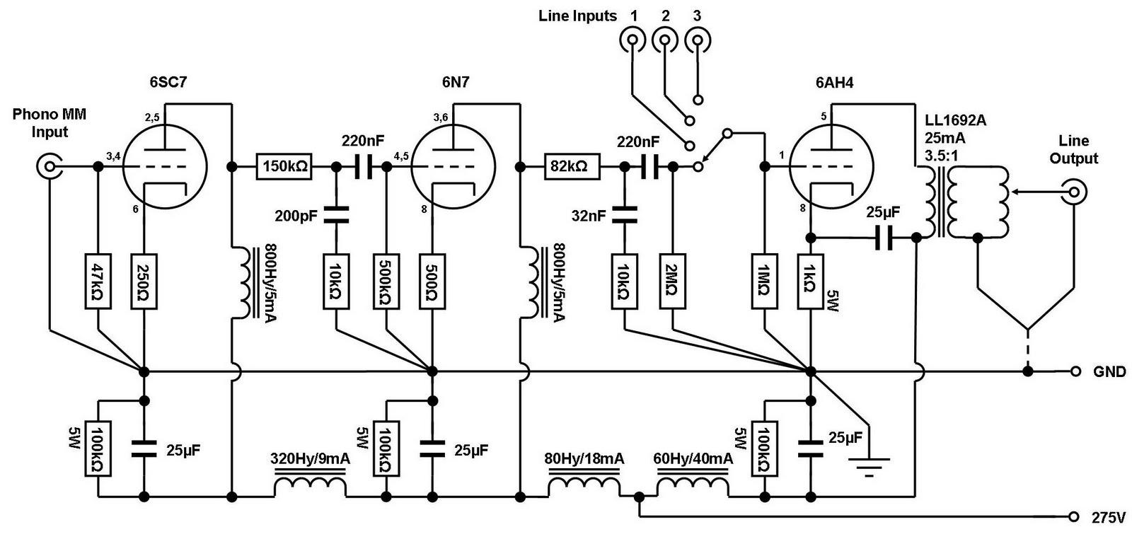 VinylSavor: The Octal Preamplifier Mk2: Circuit Update