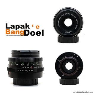Lensa Carl Zeiss Tessar 50mm F2.8 Mount M42