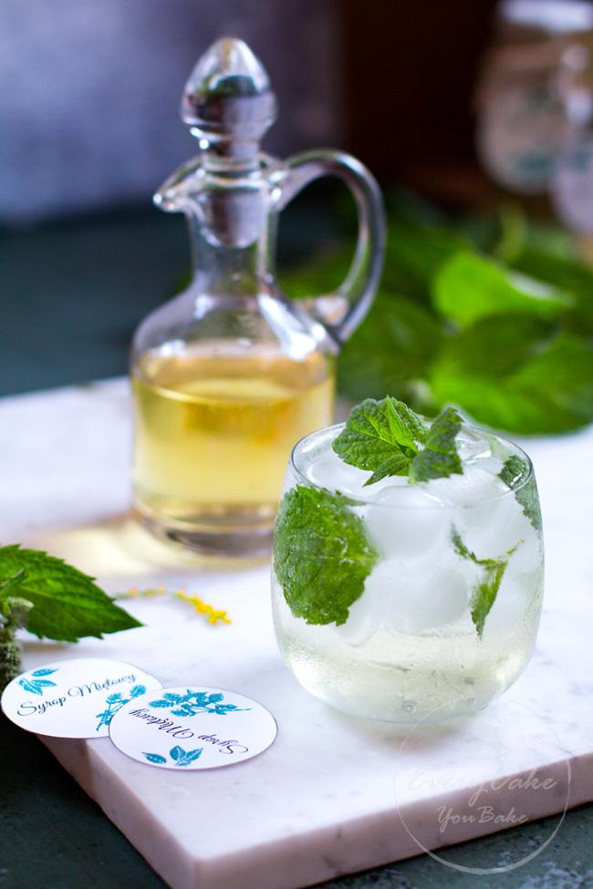 domowy syrop miętowy do herbaty i drinków