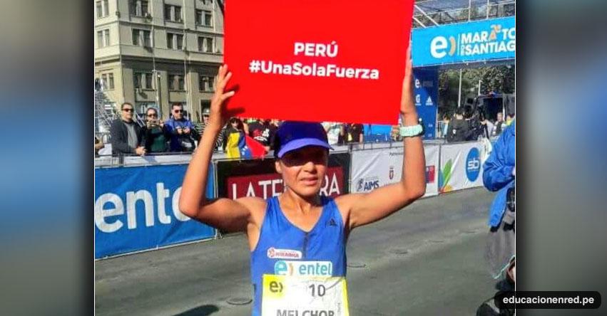 INÉS MELCHOR: Fondista peruana gana XXVI edición de la Maratón de Santiago de Chile #UnaSolaFuerza
