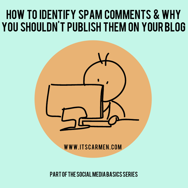 social media basics, spam comments