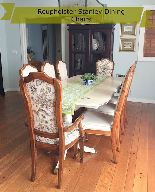 How to reupholster a Dining Chair with Piping