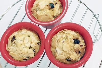 Mini Plum Cake de frutas con almendras