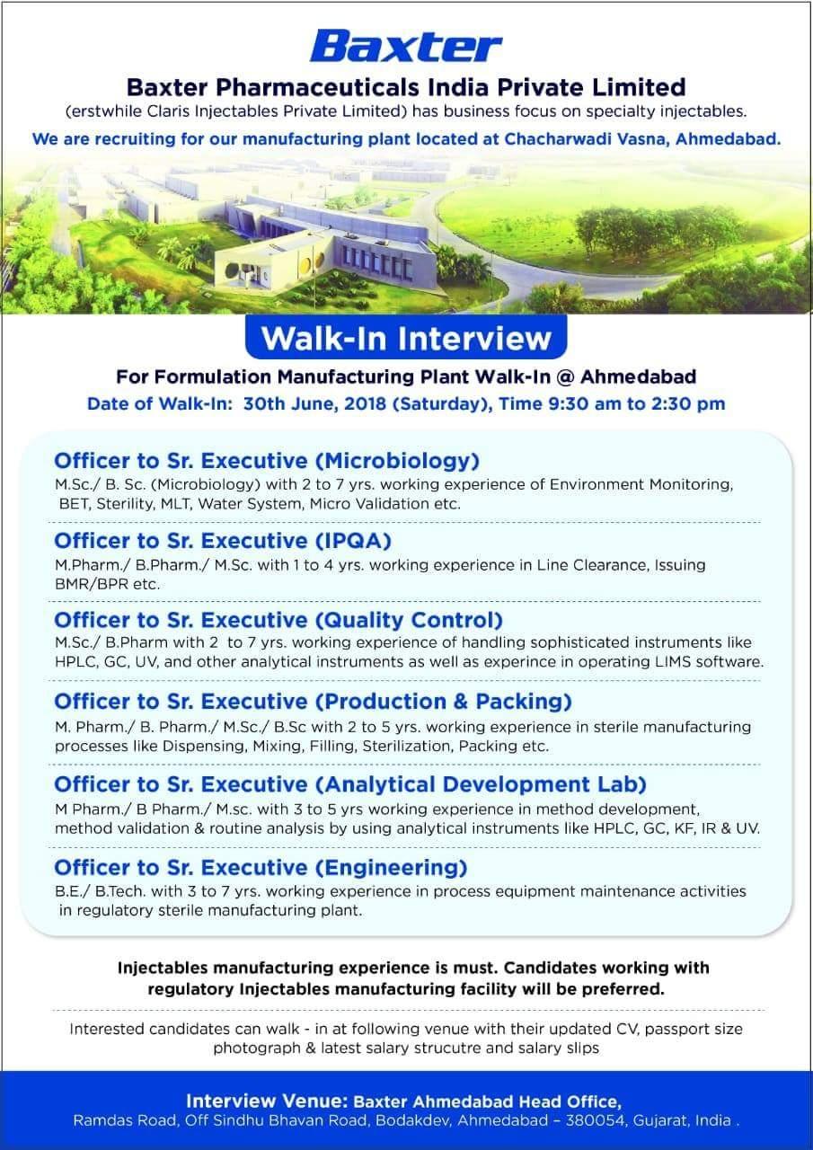 Baxter Pharmaceuticals India Ltd