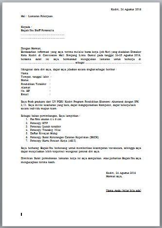 Contoh Surat Lamaran Kerja Untuk Bursa Kerja Atau Job Fair Bagi
