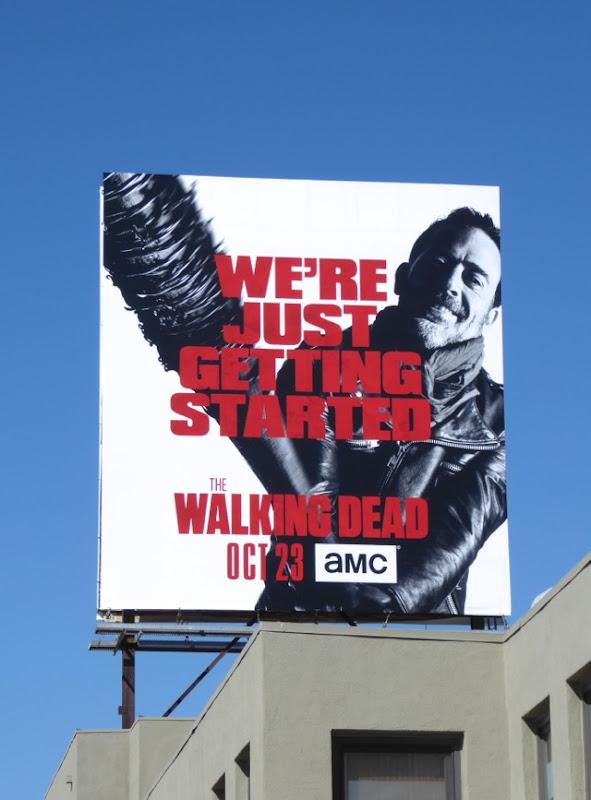 Walking Dead We're just getting started billboard