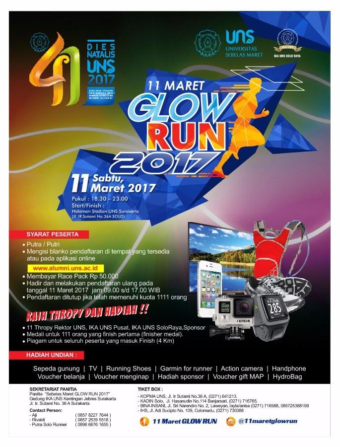 11 Maret Glow Run • 2017