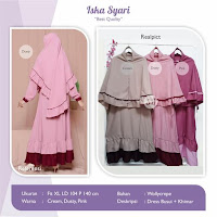 Jual Baju Busana Muslim Dress Iska Syari
