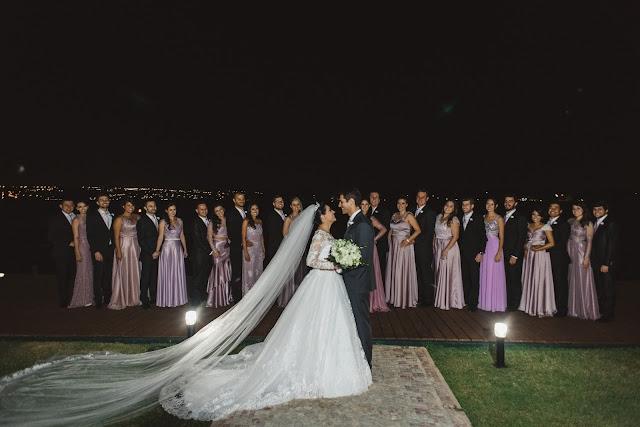 casamento real, porto vittoria, madrinhas de rosa, padrinhos