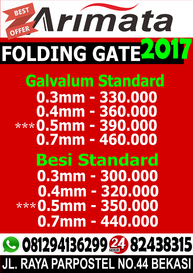 gambar harga folding gate di palmerah