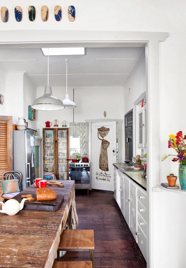 Cocina vintage y bohemia