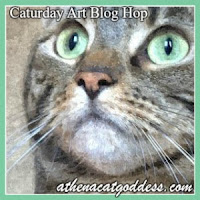 Caturday Art blog hop button