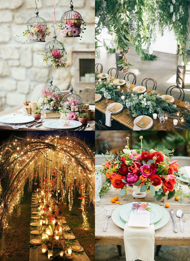 Ideas para decorar el banquete de boda con estilo rústico