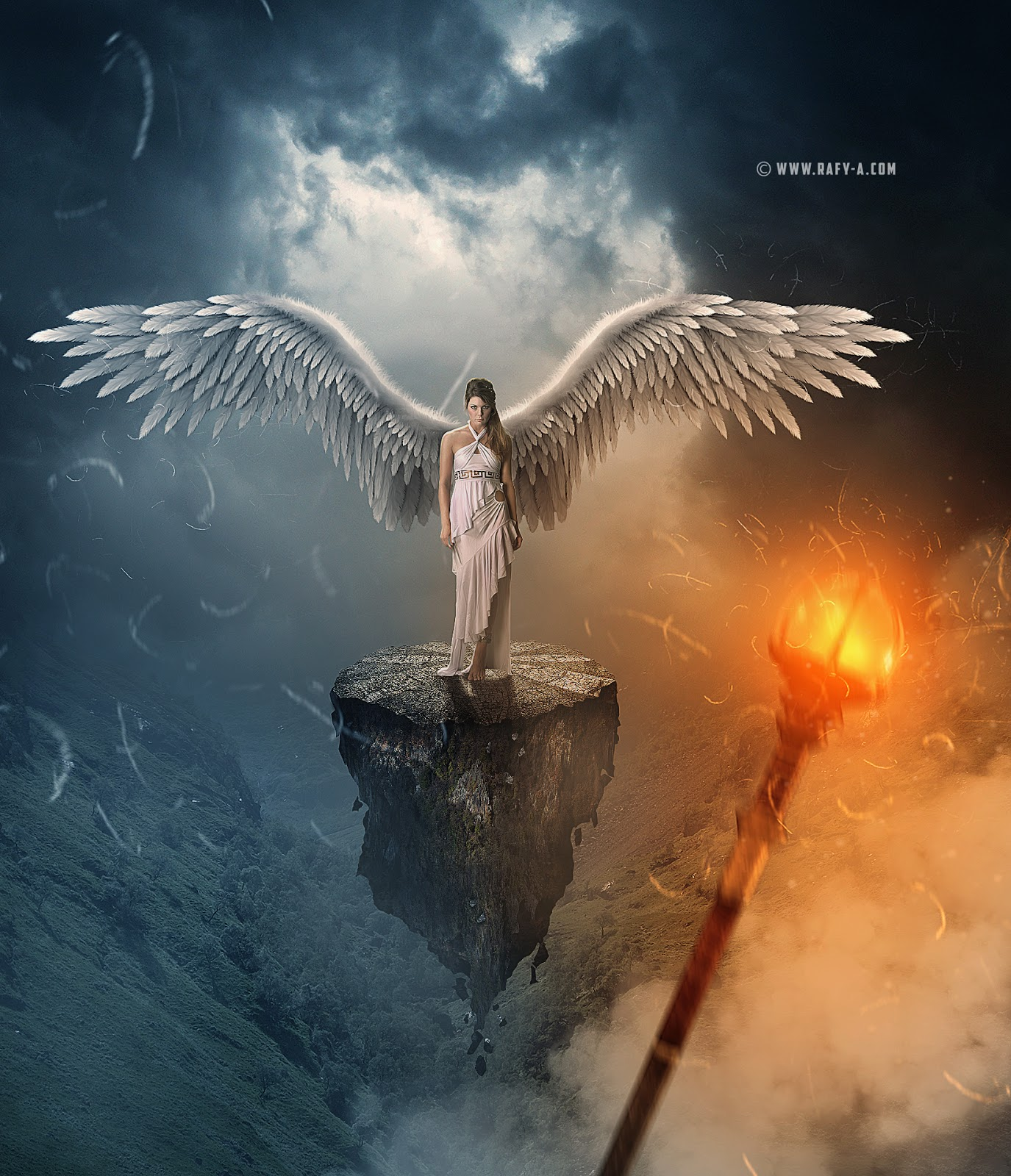 Dramatic photo manipulation tutorial photoshop the white angel in this manipulation tutorial you will see how to compositing several images adding foggy and and soft light effect adding texture dramatic color effect baditri Gallery