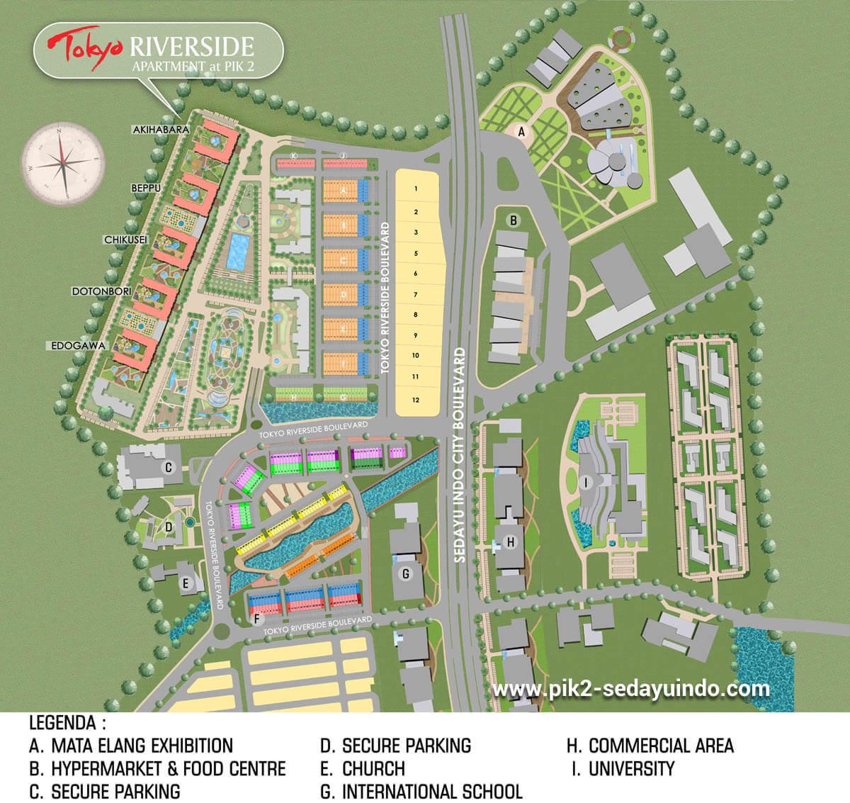 Master Plan Apartemen PIK 2 Jakarta