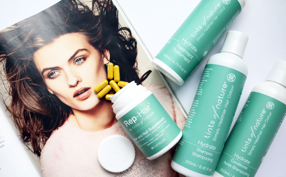 Tints Of Nature Hydrate range + Rep-Hair Supplements