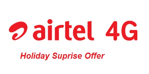 Airtel Holiday Suprise Offer - Free Data For 3 Months