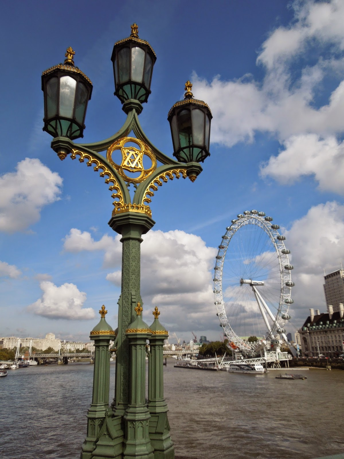 the London Eye from Westminster Bridge