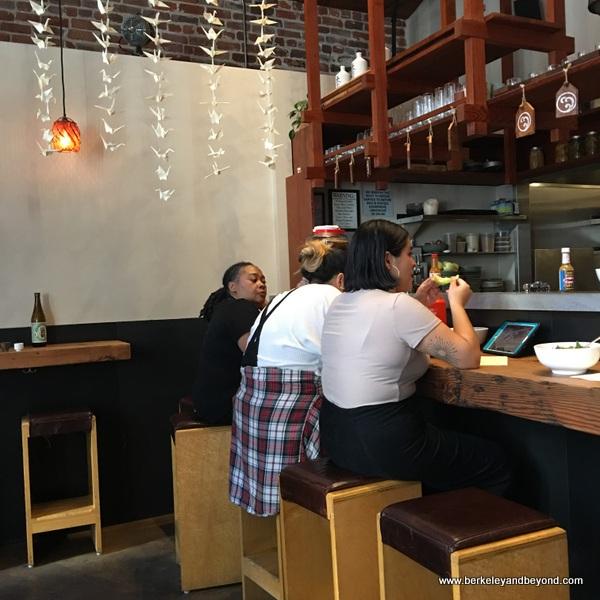dining counter at Onsen in San Francisco, California