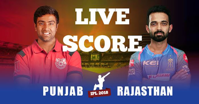 IPL 2018 Match 38 KXIP vs RR Live Score and Full Scorecard