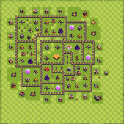 War Base Town Hall Level 9 By Blue may (1 TH 9 Layout)