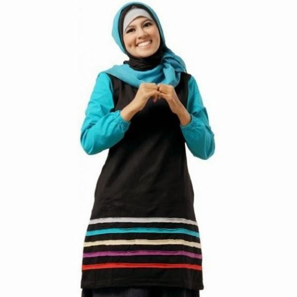 BAJU MUSLIMAH MT53 Hitam (KOLEKSI MUTIF) - SOLD OUT