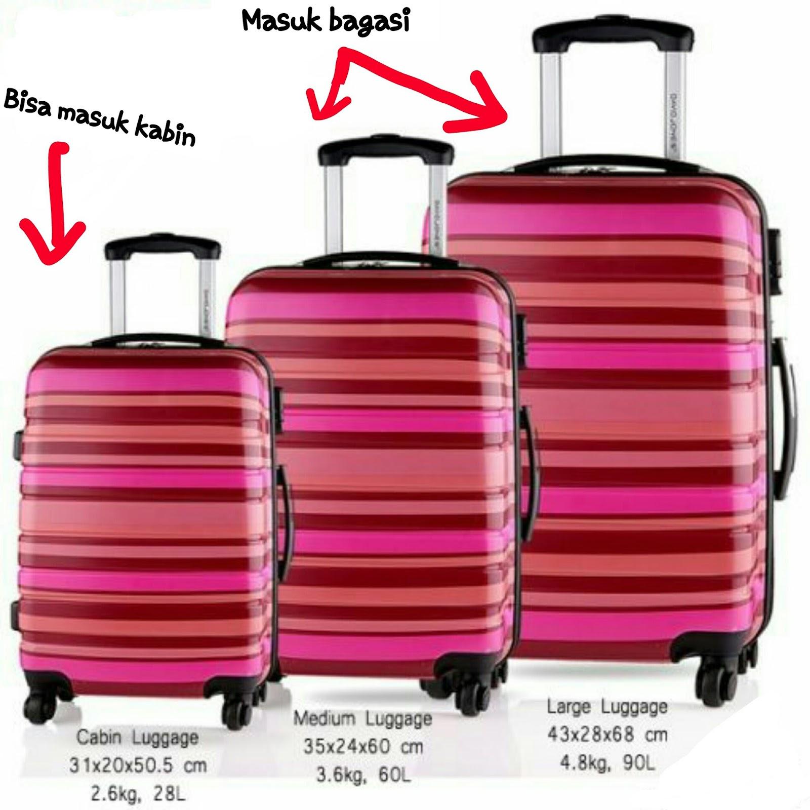 3 ukuran travel bag ya