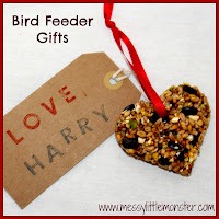 valentines day craft ideas for kids: heart bird feeder