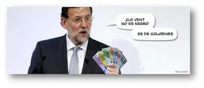 Lo ven ? No es negro, es de colorines. Mariano Rajoy