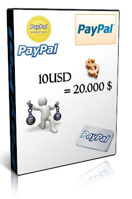Venta de 10 USD en 20.000 Mil Pesos