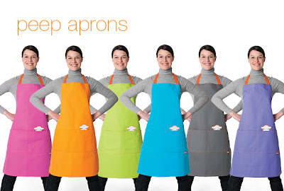 aprons in six colors; big pockets
