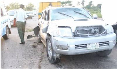 Couple Escape Death In Terrible Accident On Lagos Expressway
