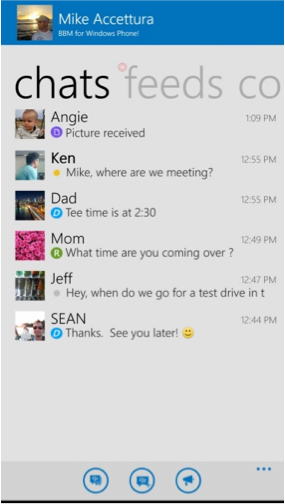 BBM untuk Windows Phone chat
