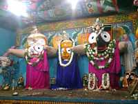 Lord Jagannath with devi Bhudevi