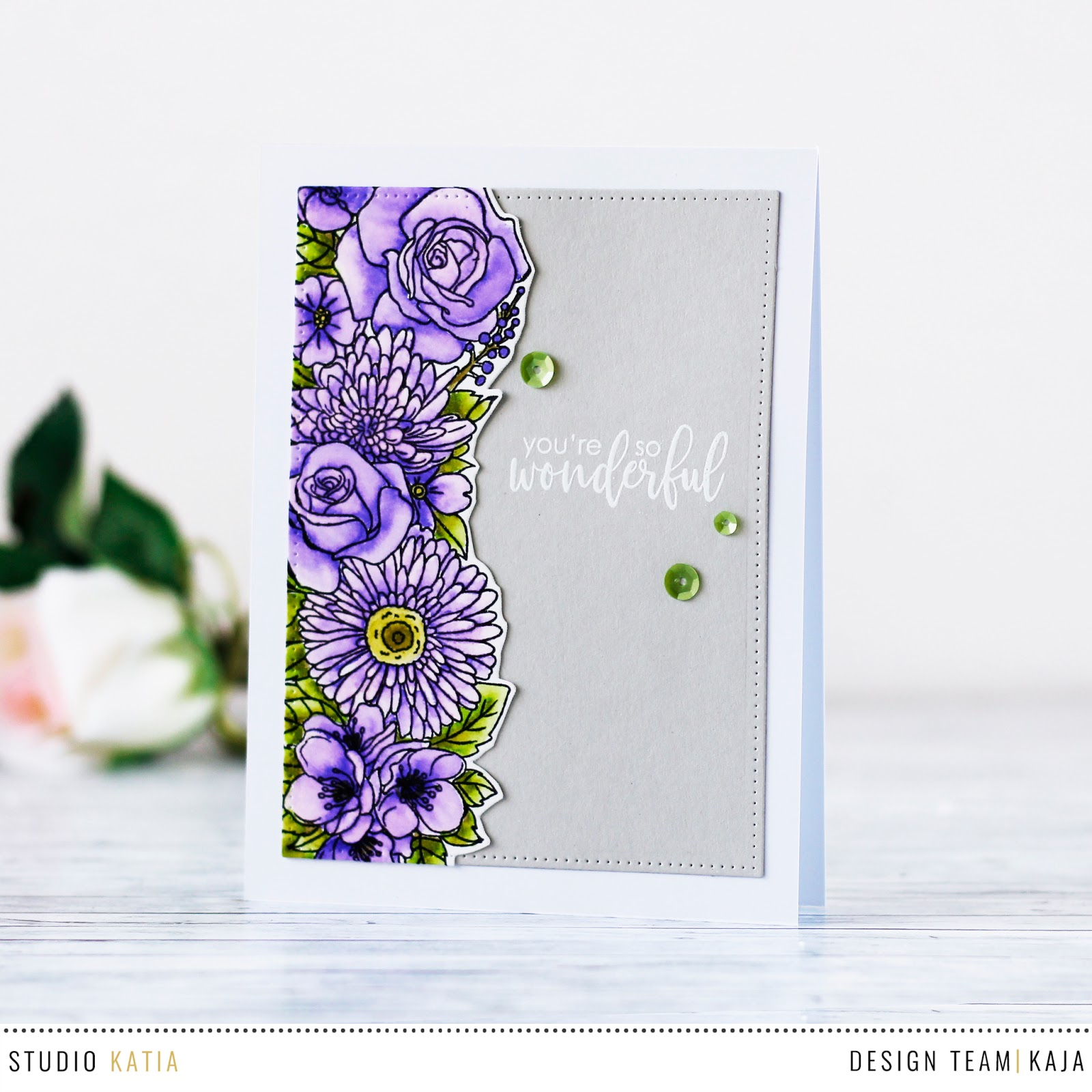 Watercolored flowers | STUDIO KATIA