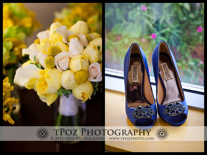 Badgley Mischka blue high heel shoes wedding