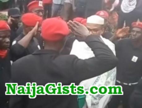 Niger Delta Militants Visit Nnamdi Kanu,