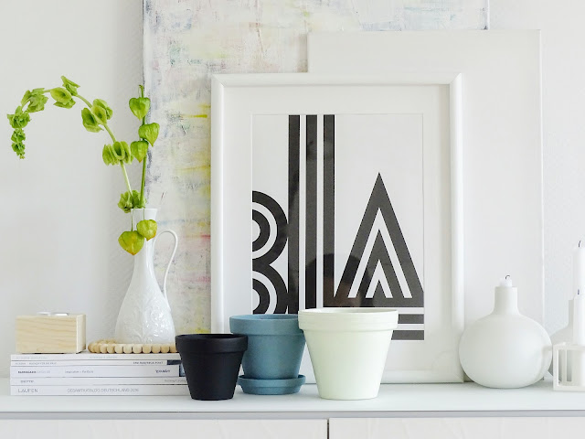 Tontöpfe anmalen - DIY-Deko-Idee - https://mammilade.blogspot.de - 5 Lieblinge der Woche