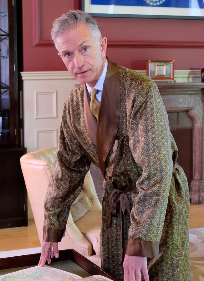 Grey Fox: Geoff Stocker Silk Dressing Gowns