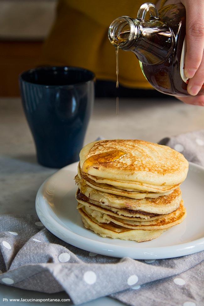 Foto con i pancakes alla ricotta