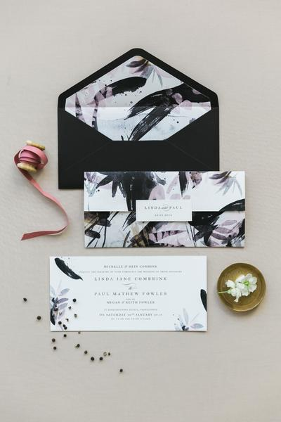 K'Mich Weddings - wedding planning - invitation - blue floral invitation - secret diary